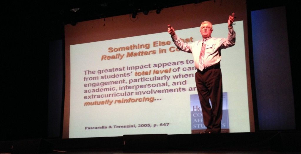 Dr. George Kuh, our keynote speaker, addressing the CUE conference at LaGuardia Community College. May, 2014.